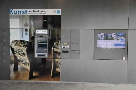Kunst am Bankomat