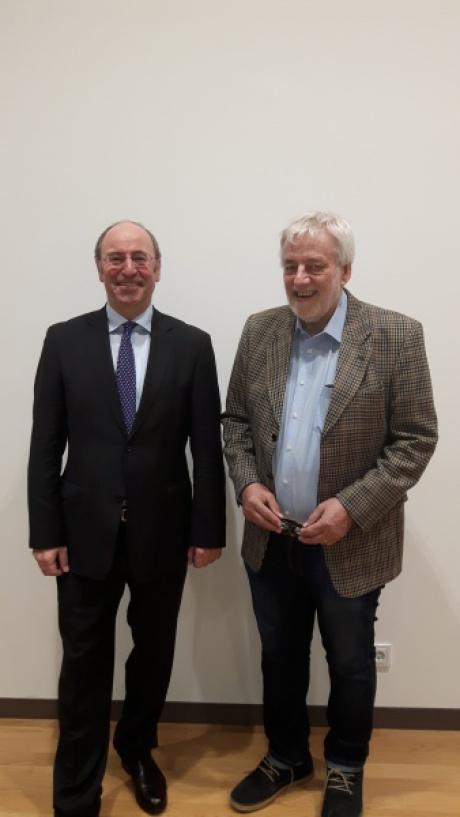 v. links: Dr. Johann Pummer (Fachverband der chemischen Industrie Österreichs) Ing. Thomas Rhomberg (FRIES)