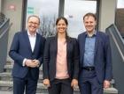 Othmar Karas (EU Abgeordneter), Katharina Rhomberg und Gerhard Bertsch (Geschäftsführung Fries) (Foto: ÖVP / Chris Georgescu)