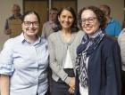 Astrid Riedl (Öffentlichkeitsreferat Lustenau), Judith Bösch (Öffentlichkeitsreferat Lustenau), Christine Schwarz-Fuchs (Geschäftsführerin)