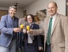 Dr. Kurt Fischer (Bürgermeister Lustenau), Christine Schwarz-Fuchs (Geschäftsführerin), Norbert Lux (Green Brands)